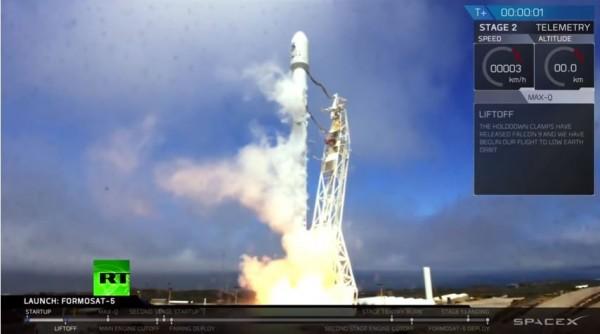 福衛五號蓄勢待發畫面。(取自SpaceX官網影片)