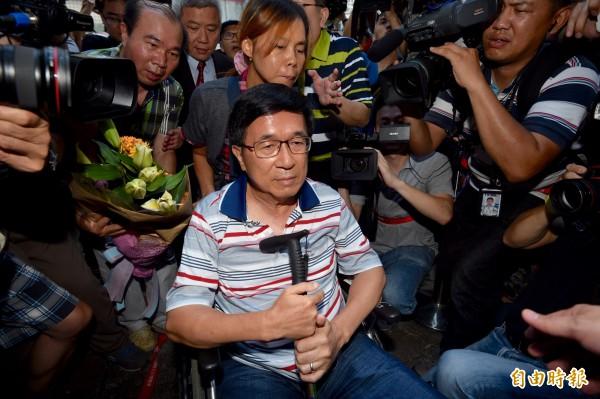 是否特赦保外就醫中的前總統陳水扁,被視為蔡英文總統的政治難題。(資料照,記者羅沛德攝)