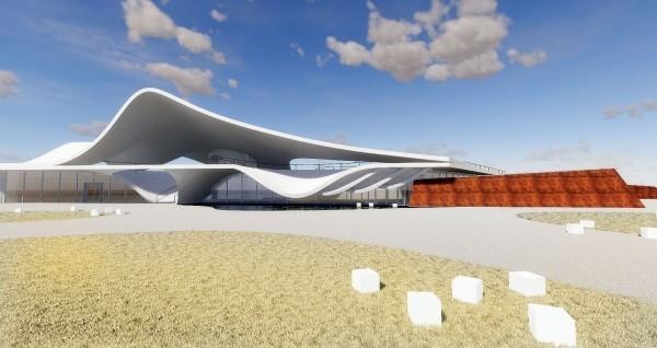 「永安漁港整體規劃暨海螺文化體驗園區工程」,主建築設計圖曝光,以「海螺」的曲線外殼為造型興建,被爆抄襲英國學生作品。(資料照)