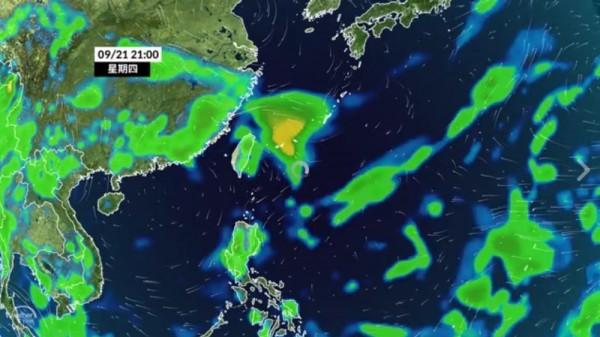 泰利颱風週四影響台灣最劇。(圖擷自彭啟明臉書)