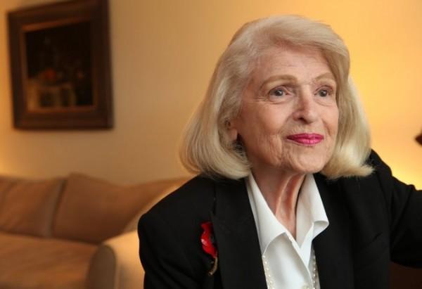 美國同婚合法重要推手溫莎夫人於當地時間週二辭世,享壽88歲。(圖擷自紐約時報)