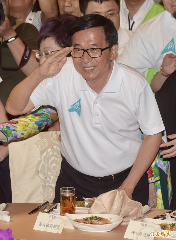 陳水扁有意參加民進黨全代會。(資料照)