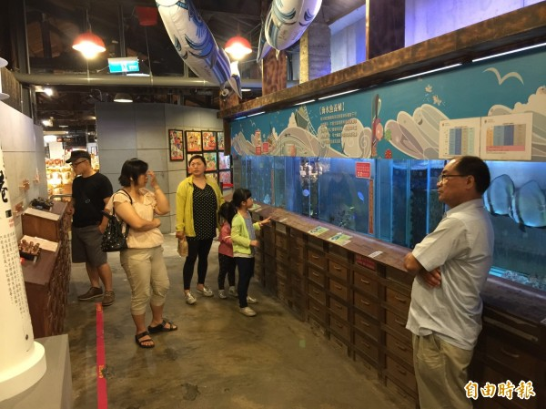 七星柴魚博物館內部原貌。(記者王峻祺攝)