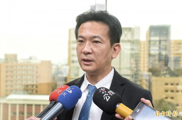 針對陳文越的言論,民進黨立委林俊憲於臉書撰文大酸。(記者林正坤攝)