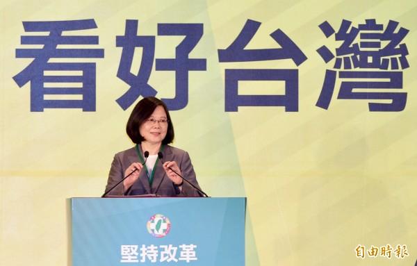 台灣在國際間屢遭中國打壓。圖為總統蔡英文。(資料照,記者羅沛德攝)