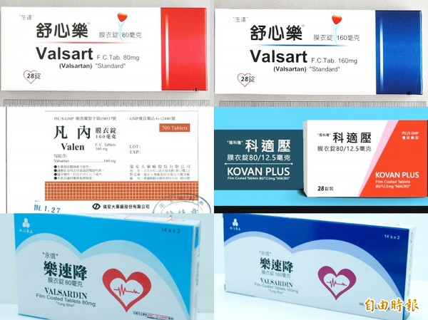 The prescription drugs for treating heart disease and hypertension that are being recalled over concerns that they could contain a probable carcinogen.