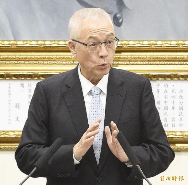 國民黨主席吳敦義表示,過去國民黨執政時幾乎沒有發生兇殺以及慘不忍睹的暴力案件,但在蔡政府執政兩年多來全都已經發生。(資料照,記者陳志曲攝)