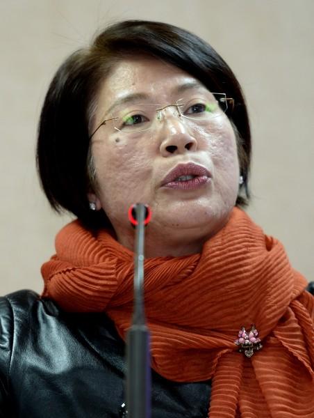 國民黨立委陳碧涵仿效陳淑慧,硬是投下1票。(資料照,記者林正堃攝)
