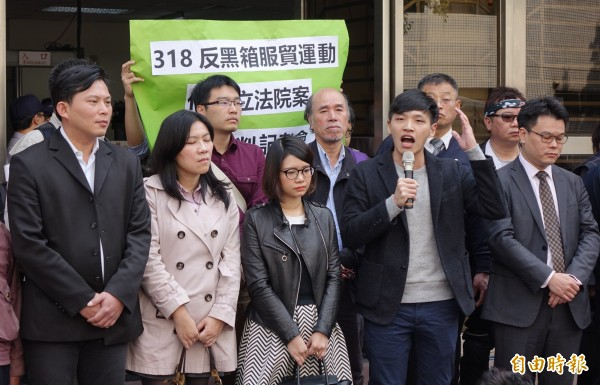 318佔領立院無罪定讞,陳為廷:敬告習近平別小看台灣。(記者劉信德攝)