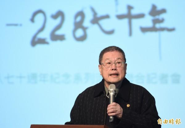 台灣二二八關懷總會理事長潘信行。(記者劉信德攝)