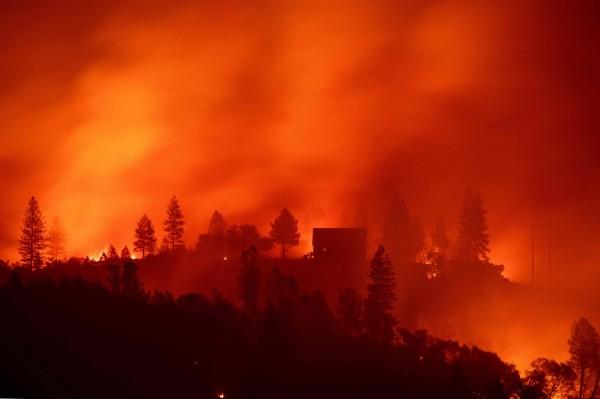 加州野火終獲控制,但也使得加州天堂鎮滅鎮。(資料照,法新社)
