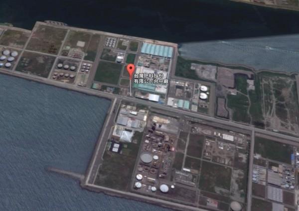 台肥台中廠衛星空照圖。(圖擷取自Google Map)