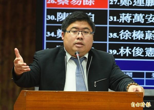 民進黨立委蔡易餘在臉發文。(資料照)