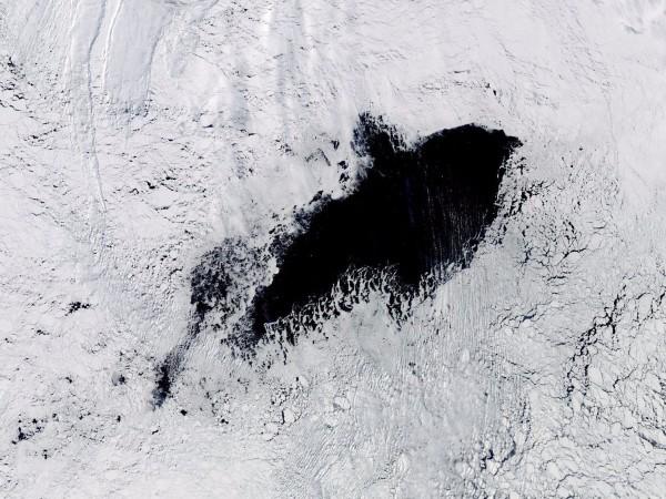 位於南極的威德爾海冰湖在離奇消失42年後再度出現。(擷取自《BusinessInsider》)