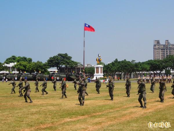 民眾指稱遭陸戰隊打靶流彈所傷,圖為陸戰特勤訓練情形。(記者黃旭磊攝)