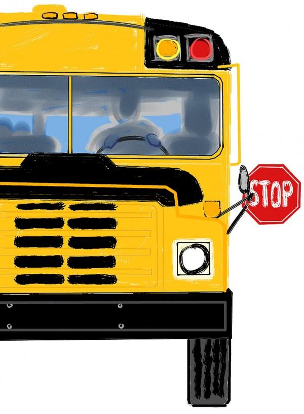 女大生對自己從早餐店辛苦下班後,搭公車還被嫌身上氣味難聞,心裡很不好受。(情境照)