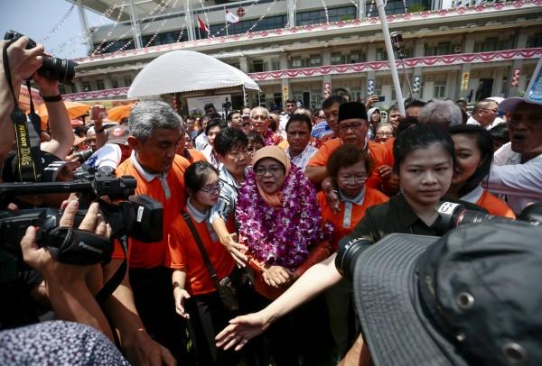 新加坡前國會議長哈莉瑪成為新加坡首位女總統,將在明晚宣誓就職。(歐新社)