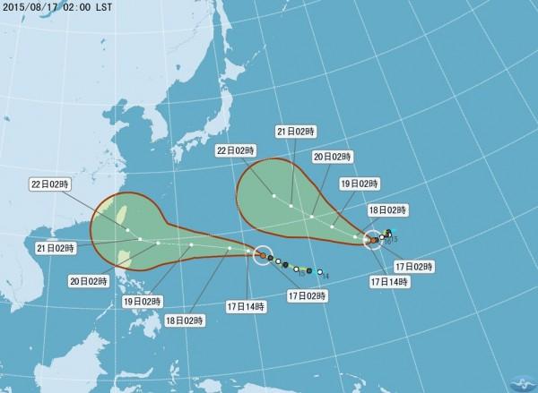 雙颱增強為中度颱風 天鵝週五恐影響台灣