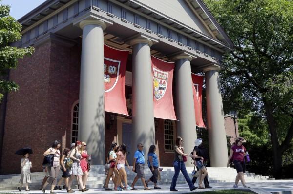 美國非營利組織「個人教育權利基金會」每年都會公布全美言論自由最差的10所大學,今年有不少名校上榜。圖為哈佛大學。(美聯社)