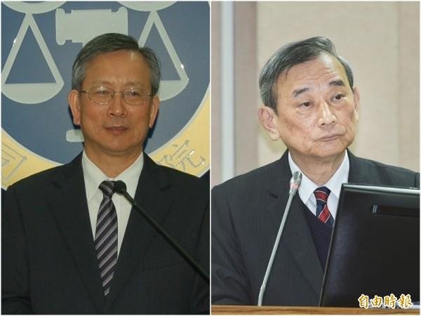 針對彰化地檢署檢察官與彰化地院法官對槓事件,司法院祕書長呂太郎(左)表示尊重法官對個案的處置,法務部政務次長陳明堂(右)認為,這只是溝通上問題。(資料照)
