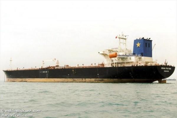 油槽船「KARTIKA SEGARA」號。(圖擷自《MarineTraffic》)