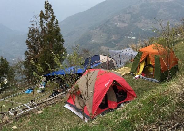 觀光局露營專區網頁,明天上線。(資料照)