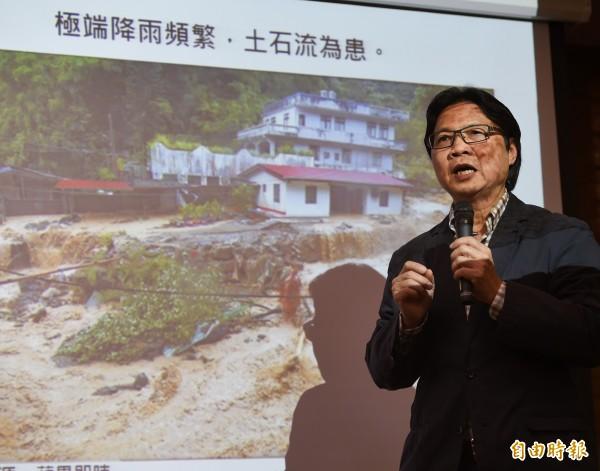 內政部27日舉行記者會,由部長葉俊榮說明內政部通過全國國土計畫草案。(記者方賓照攝)