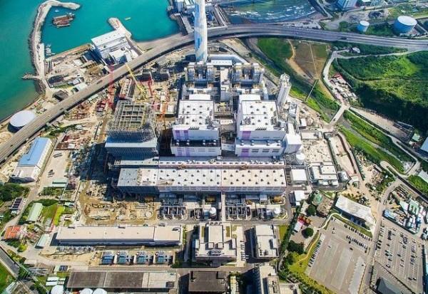 林口電廠2號機驚傳故障解聯,減供近80萬瓩電。圖為林口電廠(台電提供)