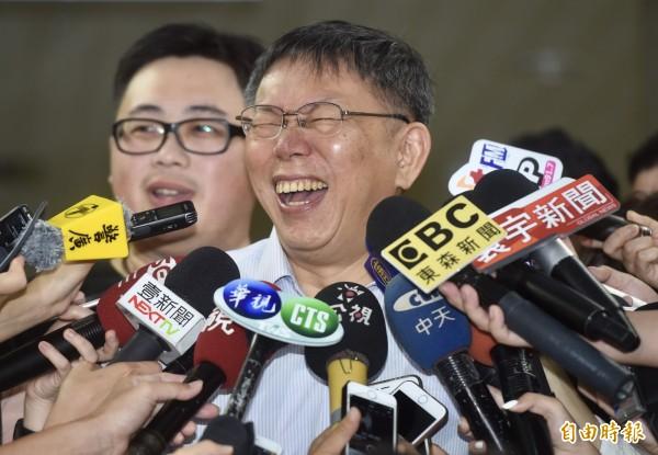 台北市長柯文哲群眾募資網站25日上線,不到半天就募得1310萬元,柯文哲當天晚間9點宣布達標。(資料照)