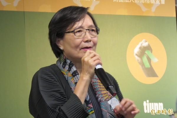鄭南榕遺孀總統府資政葉菊蘭指出,解嚴雖滿30週年,但有更大的天羅地網,罩在台灣的天空。(資料照,記者蔡文居攝)