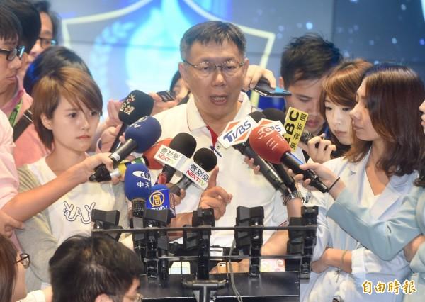 台北市長柯文哲因世大運活動大受好評聲勢回漲。(資料照,記者簡榮豐攝)