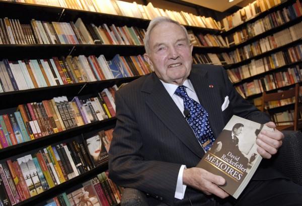 億萬富豪慈善家大衛.洛克斐勒(David Rockefeller)今天傳出辭世消息,享壽101歲。圖為2006年所攝。(法新社)
