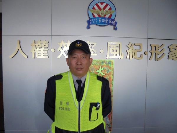 今天執勤不幸殉職的國道警四隊新市分隊警員郭振雄。(記者王涵平翻攝)
