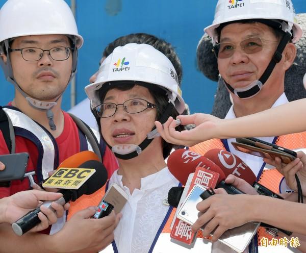 世大運執行長蘇麗瓊接受媒體採訪。(記者黃耀徵攝)