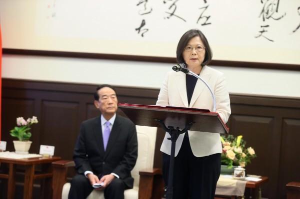 總統蔡英文將在下午3時30召開記者會,宣布親民黨主席宋楚瑜再任APEC領袖代表。(資料照,總統府提供)