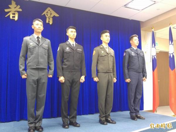 國軍將換發新式冬季短版夾克。(資料照,記者涂鉅旻攝)