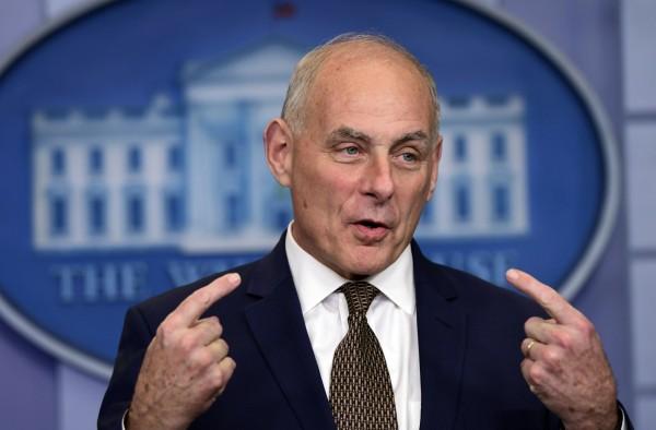 美國白宮幕僚長凱利表示,北韓核武、飛彈造成的威脅,目前仍可處理,也否認自己將被開除的傳聞。(美聯社)