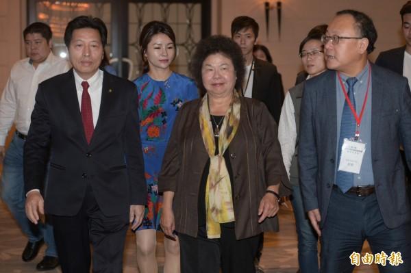 台北市長柯文哲質疑蔡總統、賴揆兩岸政策不同調,總統府秘書長陳菊回擊說,賴揆在兩岸關係上完全尊重總統的職權,兩人的兩岸政策主張是一致的,這非常清楚。(資料照)