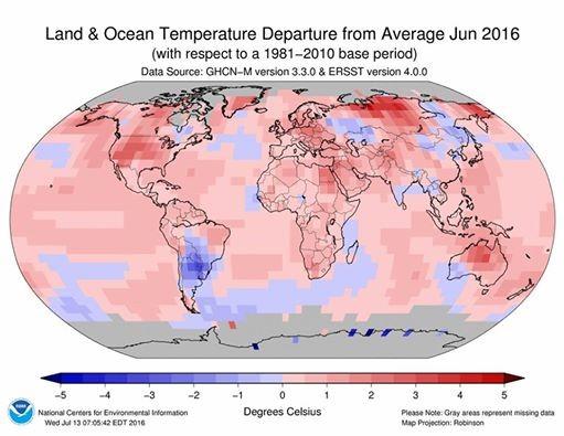 6月全球均溫又創新高 鄭明典:已連續14個月破紀錄