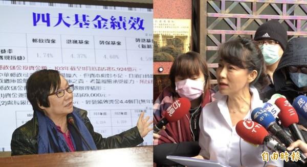 羅淑蕾(左)嗆告網友,郭新政(右)表示「我郭新政負責」。(資料照,本報合成)