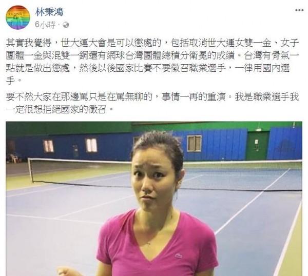 醫師林秉鴻在個人臉書上發表詹詠然棄世大運的看法。(圖擷自臉書)