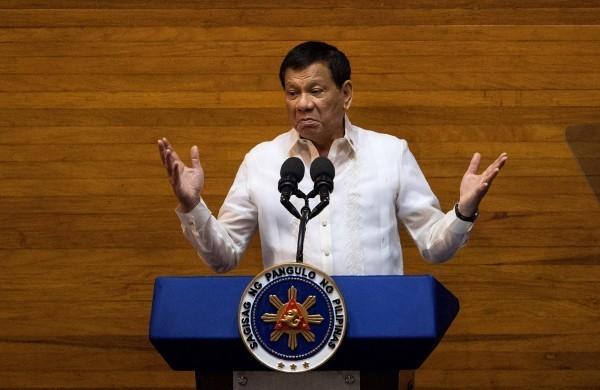 菲律賓總統杜特蒂。(資料照,法新社)