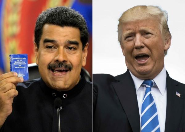 川普表示不排除對委內瑞拉動火。(法新社)