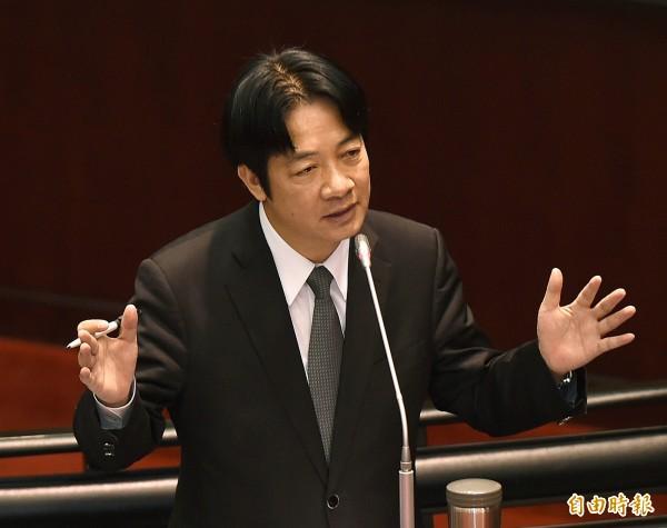 賴清德:台獨是個人主張 兩岸政策是總統職權
