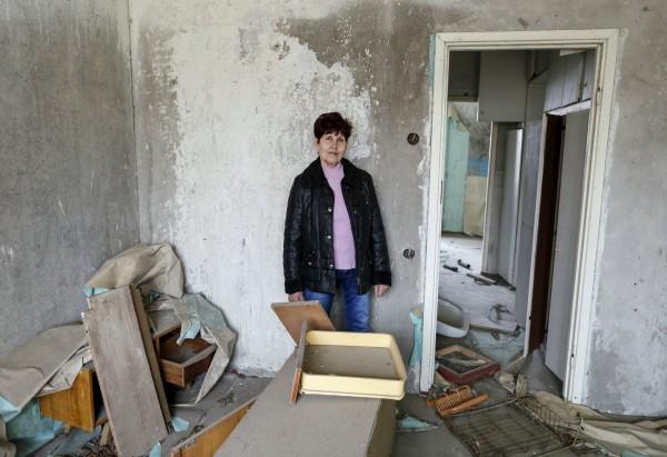 66歲的Zoya Perevozchenko說,她幾乎無法找到她的公寓,現在變成一片森林。(路透)