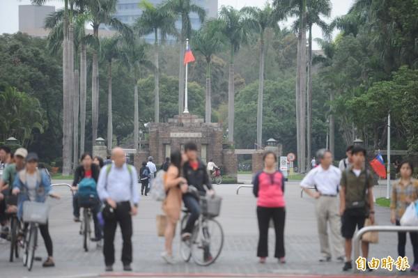 139位台大學生回答「如果你希望有一首歌能從地球上永久性地消失,那會是什麼?」的問題,選出的第一名就是「中華民國國歌」。(資料照,記者方賓照攝)