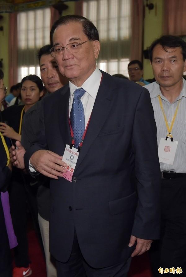 前副总统连战。(资料照,记者黄耀徵摄)