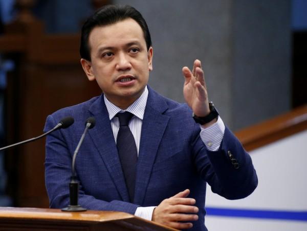菲律賓總統杜特蒂宣告反對派參議員特立尼斯的特赦令無效,準備重新將他逮捕。(美聯社)
