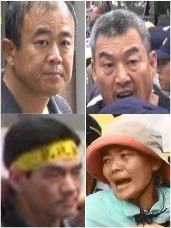 涉嫌年金改革案的劉長齡(左上)、陳思齊(右上)、王裕文(左下)及黃應(女桀)(右下)。(記者劉慶侯翻攝)