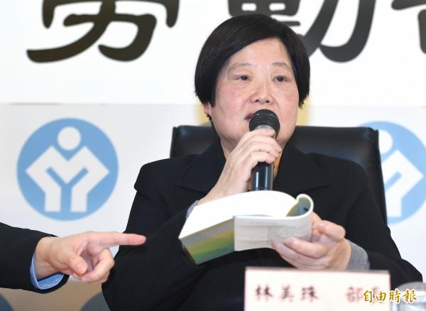 勞動部長林美珠說,加班換補休是由勞工主動選擇,相關訊息將會訂在施行細則中。(記者廖振輝攝)